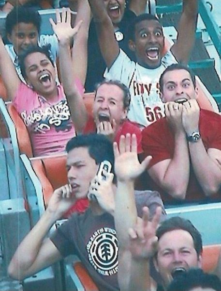 Cell Phone on Rollercoaster